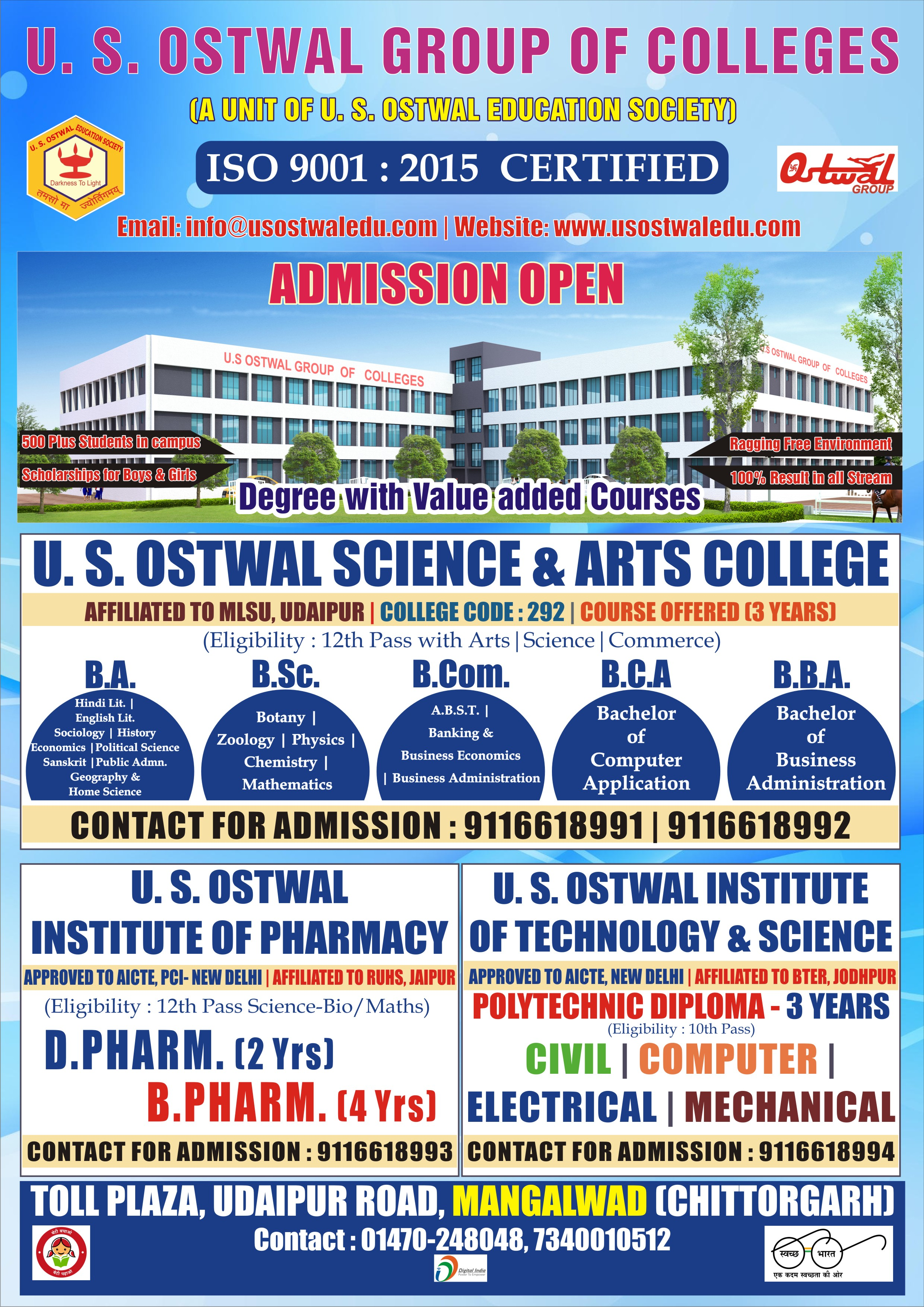 U S  Ostwal Group of Colleges